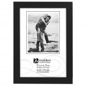 Malden International Designs Black Concept Wood Picture Frame, 3.5x5, Black