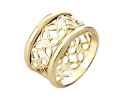 G & H Gold Plated Sterling Silver Size 7 Filigree Band Ring
