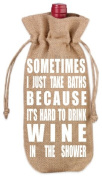 Set of 3 VinoPlease Wine Jute Bag Draw String Covers Gift Accessory