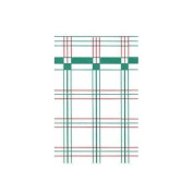 Dollhouse Wallpaper 1pc, Red/green Plaid 6Pk by Superior Dollhouse Miniatures