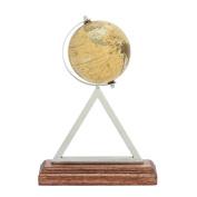 Benzara 43477 Captivating Stainless Steel PVC Wood Globe