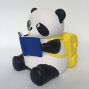 Spark Toys & Games Panda Bear Piggy Bank with Yellow Back-Pack and Book