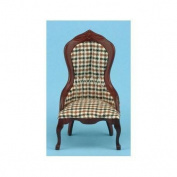 Dollhouse Plaid Victorian Lady's Chair by Classics