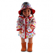 ZWSISU Doll Raincoat and Rainhat Fits 46cm American Girl Doll,Our Generation and Journey Girls Dolls by ZWSISU