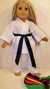 Karate Doll Clothes for American Girl 46cm Doll Clothing with all Belts Marshall Arts by The Wishlist Store