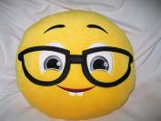 Granny's Best Deals (C) 30cm Emoji Emoticon Black Glasses Grey Eyes Smiley Face Stuffed Baby Plush Toys Doll-New!