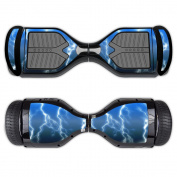 MightySkins Protective Vinyl Skin Decal for Swagtron T1 Hover Board Self Balancing Smart Scooter wrap cover sticker skins Lightning Storm