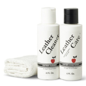 Apple Brand Leather Care Kit 120ml Cleaner & 120ml Conditioner + Cleaning Cloth