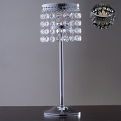 Efavormart Stunning Metal Votive Tealight Crystal Candle Holder Wedding Centrepiece - 29cm
