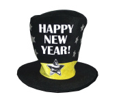 """Amscan """"Happy New Year!"""" Plush Oversized Party Hat,38cm"""