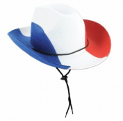 Beistle Company 60461-RWB Patriotic Felt Cowboy Hat - Red, White & Blue