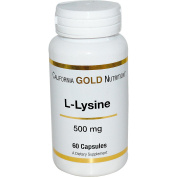 California Gold Nutrition, L-Lysine, 500 mg, 60 Capsules