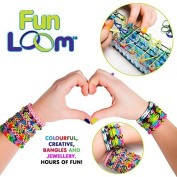 Fun Loom Jewellery Weaving Loom Kit for Arts & Crafts | Includes Rubber Bands, Loom Board, Hook, Closures and a How to Loom guide book | For kids aged 8 and older by FunLoom
