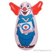 Original Bozo the Clown Bop Bag Inflatable Punching Toy 18cm Small Desk Size by Rocket USA