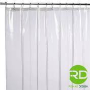 Mildew Resistant Shower Curtain Liner - 72x72 Clear Peva Curtain for Bathroom - Waterproof Odourless Eco Friendly Anti Bacterial - Heavy Duty Metal Grommets - Creatov Design
