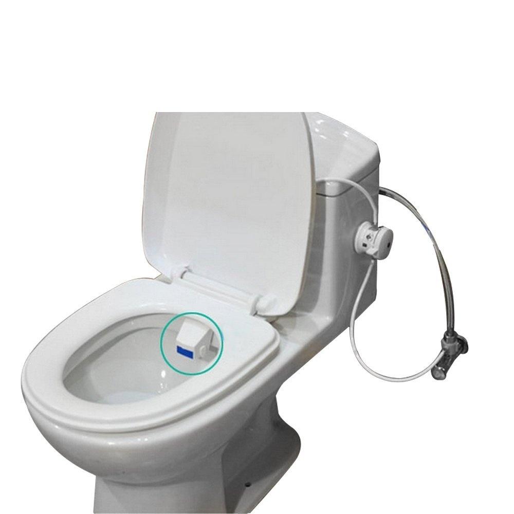 Bathroom Smart Toilet Seat Bidet Intelligent Cleaning Adsorption Type Toilet Flushing Sanitary Device Online Discount Home Improvement Flush Valves