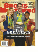 SPORTS ILLUSTRATED, OLYMPICS THE GREATESTS, 2016 SPECIAL SECTION AUG, 22nd 2016