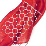 Tune Up White Closet Organiser 28 Ring Holder for Scarves, Ties Hanger