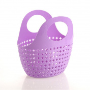 Prettysell Portable basket plastic wash basket Storage