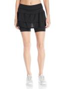 Skirt Sports Cascade Skirt -Running Skirt with Built-In Shorties, Moisture-Wicking, Lightweight UV 50+ Performance Fabric
