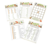 Lillian Rose Woodland Baby Shower Game Cards, Neutral, 13cm x 18cm