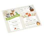 Lillian Rose Woodland Baby Shower Prediction Cards, Neutral, 14cm x 11cm