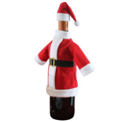 Anboo Wine Bottle Cover Bags Decoration Home Party Santa Claus Clothes+Hat