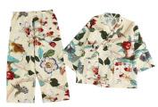 Cotton and Linen Bathrobe Girl Pyjamas Children Kimono Khan Steamed Clothes
