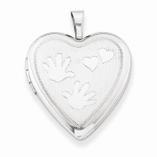 Perfect Jewellery Gift Sterling Silver 20mm with Handprints Heart Locket