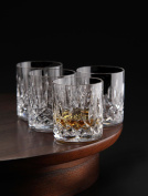 Le'raze Posh Crystal Collection Double Old Fashioned Glasses, Perfect for serving scotch, whiskey or mixed drinks