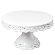 Gracie China Victorian Rose Fine Porcelain Cake Stand 25cm Off White