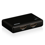 Voygon 2-Port 1x2 HDMI Splitter, 1-In 2-Out 1080P 3D, for Bluray, PVR/Netflix/Roku/Kodi Box, PS4/PS3, XboxOne/Xbox360, iPhone/iPad/Android/Fire, VGHS1X2