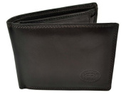 Mens Quality Soft LEATHER WALLET by London Leather Goods Trifold Stylish