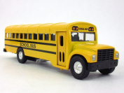 15cm Long Yellow School Bus Diecast Metal Model