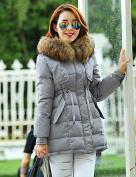 YRF/ Women's Casual Artificial Fur Collar Plus Sizes Long Sleeve Down Coat