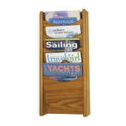 SAF4330MO - Solid Wood Wall-Mount Literature Display Rack