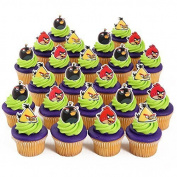 Angry Birds Officially Licenced 24 Cupcake Topper Rings by Bakery Crafts