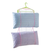 Multipurpose Hanging Pillow Cushion Air Hanger Dry Mesh Closet Storage Bag