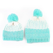 Tonsee 2Pcs Mom And Baby Hats Fashion Winter Crochet Knitted Keep Warm Beanie Cap