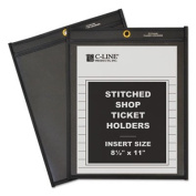 Shop Ticket Holders, Stitched, One Side Clear, 130cm , 8 1/2 x 11, 25/BX, Sold as 2 Box, 25 Each per Box