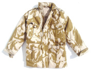 Boys 13-14 Padded Soldier Army Jacket Desert Camouflage