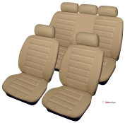Citroen DS3 1.6 BlueHDi DSport Plus 2d 2015 BEIGE LEATHER LOOK SEAT COVERS