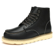 Rismart Men's Street-style Fashion Platform Synthetic Leather Ankle Boots Fur Lined Available SN0027