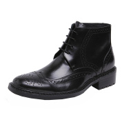 Wuf Mens Genuine Leather Ankle Boots Lace Up