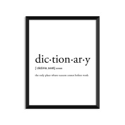 Dictionary Definition, College Dorm Room Decor, Dorm Wall Art, Dictionary Art Print, Office Decor, Minimalist Poster, Funny Definition Print, Definition Poster, Inspirational Quotes
