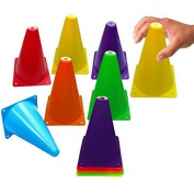 Toy Cubby Colourful Flexible Plastic Activity Play Traffic Cones Set - 12 Pcs by Toy Cubby