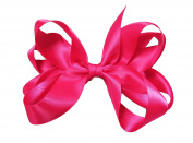 PrettyBoutique 15cm Girls Large Ribbon Boutique Ponytail Hair Bun Bow Clips Accessories