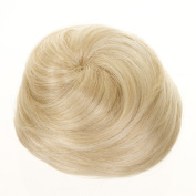 Platinum Blonde Hair Cone Up Do Hairpiece | Drawstring Hair Bun | Clip in Top Knot