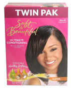 Soft & Beautiful Straightens Better Ultimate Conditioning No-Lye Relaxer System twin pack Super