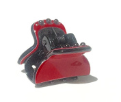 Luxury Hair Small Claw Red with black pearl
